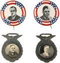Political:Pinback Buttons (1896-present), Franklin D. Roosevelt: Two Matched 1932 and 1940 Campaign Pairs.... (Total: 4 Items)