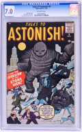 Silver Age (1956-1969):Science Fiction, Tales to Astonish #6 (Marvel, 1959) CGC FN/VF 7.0 Off-whitepages....