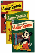 Golden Age (1938-1955):Cartoon Character, Andy Panda #17-79 and 25 Group (Dell, 1953-54) Condition: AverageNM-.... (Total: 4 Comic Books)