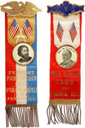 Political:Ribbons & Badges, William McKinley: Pair of Choice Peoria, Illinois Presidential Campaign Ribbon Badges.... (Total: 2 Items)