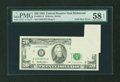 Error Notes:Foldovers, Fr. 2081-E $20 1995 Federal Reserve Note. PMG Choice About Unc 58 EPQ.. ...