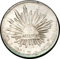 Mexico, Mexico: Republic Cap and Rays 8 Reales 1864 A-PG,...