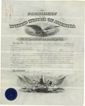 Autographs:U.S. Presidents, Grover Cleveland Presidential Appointment Signed and countersignedby Secretary of War Daniel S. Lamont. One partially print...