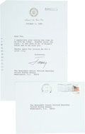 "Autographs:U.S. Presidents, Jimmy Carter Typed Letter Signed as President to Senator PatrickMoynihan of New York on ""Air Force One"" letterhead with..."