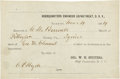 "Miscellaneous:Ephemera, Slavery: Partly Printed Receipt for Use of a Slave by theConfederate Engineer Department. One page, 6.25"" x 4"", March 4,18..."
