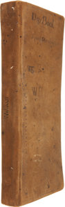 Miscellaneous:Ephemera, Colonial Boston Store Ledger Book of William Blair Townsend, withentries dating from 1744 through 1761. Pages are numbered ...