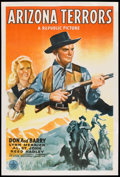 "Movie Posters:Western, Arizona Terrors (Republic, 1942). One Sheet (27"" X 41""). Western.. ..."