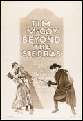 """Movie Posters:Western, Beyond the Sierras (MGM, 1928). Rotogravure One Sheet (27"""" X 41""""). Western.. ..."""