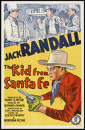 "Movie Posters:Western, The Kid From Santa Fe (Monogram, 1940). One Sheet (27"" X 41""). Western.. ..."