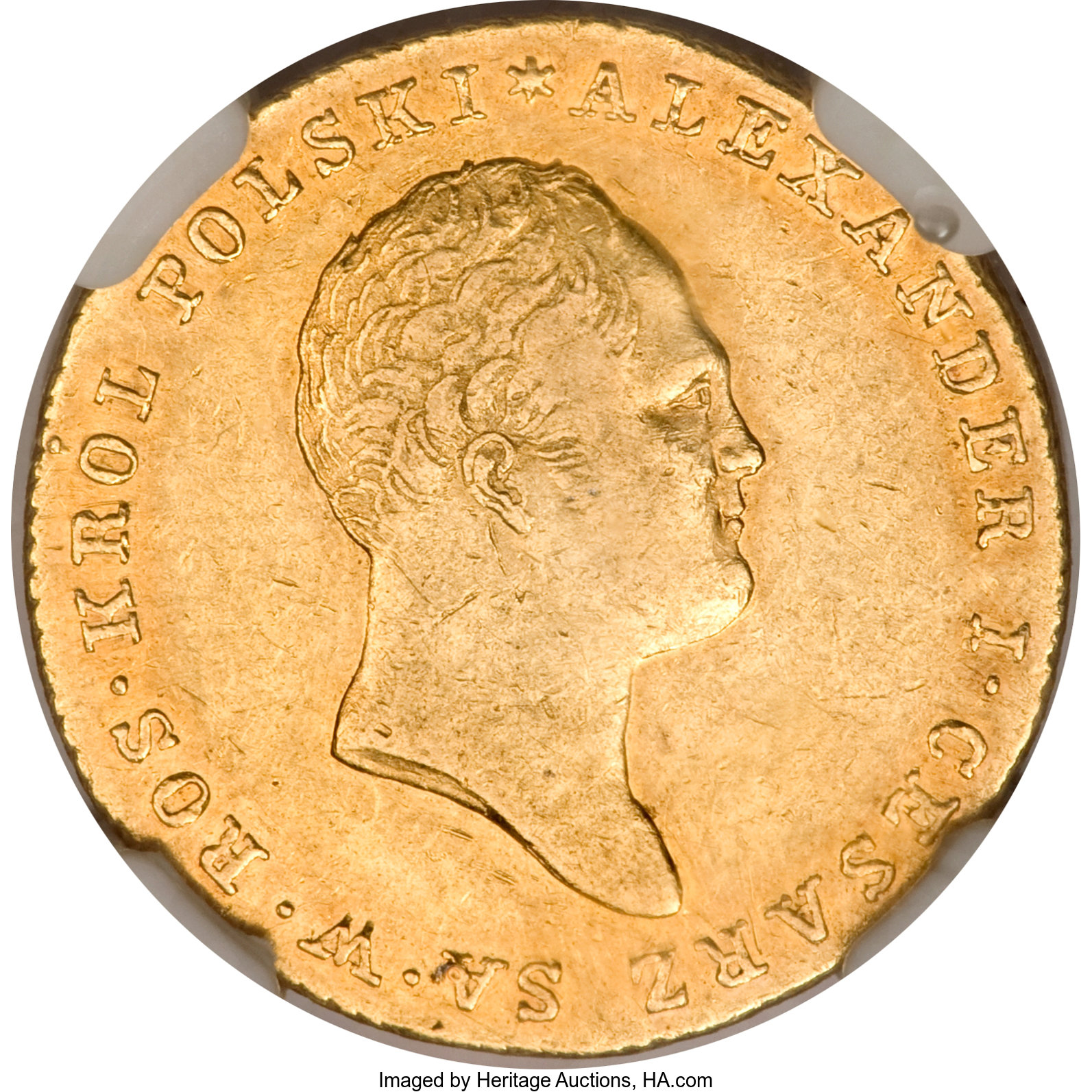 Poland: Alexander I of Russia gold 25 Zlotych 1818-IB,    Poland