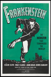 "Frankenstein (Universal, R-1962). One Sheet (27"" X 41""). Horror"