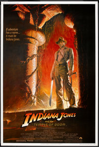 """Indiana Jones and the Temple of Doom (Paramount, 1984). Poster (40"""" X 60""""). Adventure"""