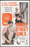"Movie Posters:Crime, Jungle Street Girls (Ajay, 1961). One Sheet (27"" X 41""). Crime.. ..."