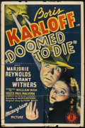 "Movie Posters:Mystery, Doomed to Die (Monogram, 1940). One Sheet (27"" X 41""). Mystery....."