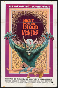 """Night of the Blood Monster (American International, 1972). One Sheet (27"""" X 41""""). Horror"""