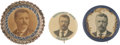 Political:Pinback Buttons (1896-present), Theodore Roosevelt: Trio of Exceptional Portrait Buttons.... (Total: 3 Items)