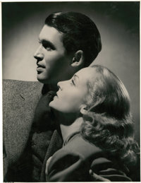 """Carole Lombard and James Stewart in """"Made for Each Other"""" (United Artists, 1939). Portrait Still (10.5"""" X..."""