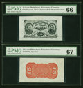 Fractional Currency:Third Issue, Fr. 1275SP/Fr. 1276SP 15¢ Third Issue Wide Margin Pair PMG SuperbGem Unc 67 and Gem Unc 66.... (Total: 2 notes)