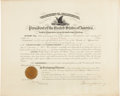 "Autographs:U.S. Presidents, Warren Harding Presidential Coast Guard Appointment Signed""Warren G. Harding"". One partly printed page, 20"" x 16"",Marc..."