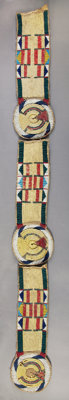 THREE CROW OR PLATEAU QUILLED AND BEADED BUFFALO HIDE PANELS c. 1860