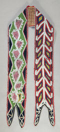 American Indian Art:Beadwork and Quillwork, A SEMINOLE BEADED CLOTH BANDOLIER STRAP. c. 1850...