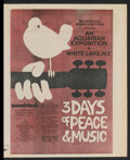 """Movie Posters:Rock and Roll, Woodstock (Warner Brothers, 1970). Herald (12"""" X 15""""). Rock andRoll.. ..."""