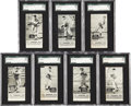 Baseball Cards:Lots, 1933-36 E137 Zeenut Baseball Collection (7) - All With Coupons!...