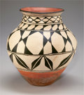 American Indian Art:Pottery, A COCHITI POLYCHROME JAR. c. 1920...