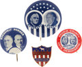 Political:Pinback Buttons (1896-present), Roosevelt and Horner: Four Great Illinois Coat-tail Pinbacks.... (Total: 4 Items)