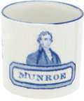 "Political:3D & Other Display (pre-1896), James Monroe: Extremely Rare and Sought After Portrait Mug with HisName Spelled ""Munroe"". ..."