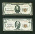 National Bank Notes:West Virginia, Type Two Pair - Saint Marys, WV - $10 and $20 1929 Ty. 2 The FirstNB Ch. # 5226. ... (Total: 2 notes)