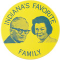 Political:Pinback Buttons (1896-present), Barry Goldwater: Rare Barry and Peggy Goldwater Jugate Button....