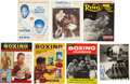 Boxing Collectibles:Autographs, Boxing Stars Signed Magazines and Photograph Lot of 7....