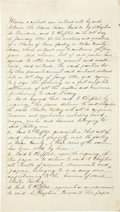 """Autographs:Celebrities, Franco-Texan Land Company Manuscript Signed by President A.Chaptive. Two and one-half lined pages, 8"""" x 14"""", September 4, 1..."""