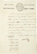 "Autographs:Statesmen, Charles S. Taylor Document Signed, one page on ""Sello Tercero""paper, 8.5"" x 12"", Nacogdoches, February 13, 1835. Taylor sig..."
