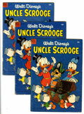 Golden Age (1938-1955):Cartoon Character, Four Color #495 Uncle Scrooge - Group of Three (Dell, 1953).... (Total: 3 Comic Books)