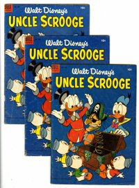 Four Color #495 Uncle Scrooge - Group of Three (Dell, 1953).... (Total: 3 Comic Books)