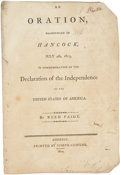 "Books:Pamphlets & Tracts, Imprint: ""Oration Pronounced in Hancock, July 4th, 1803, inCommemoration of the Declaration of Independence."" By Re..."