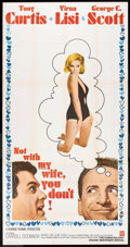 "Movie Posters:Comedy, Not with My Wife, You Don't! (Warner Brothers, 1966). Three Sheet (41"" X 81""). Comedy.. ..."