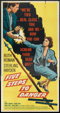 "Movie Posters:Adventure, Five Steps to Danger (United Artists, 1957). Three Sheet (41"" X81""). Adventure.. ..."