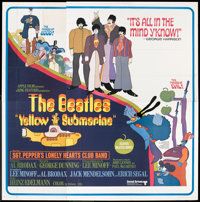 "Yellow Submarine (United Artists, 1968). Six Sheet (81"" X 81""). Animated"
