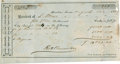 "Miscellaneous:Ephemera, Slave Tax Receipt. One partly printed receipt, 7.75"" x 4"", August10, 1863, Houston, Texas, signed by the city assessor and ..."