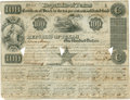 "Miscellaneous:Ephemera, Republic of Texas $100 Stock Certificate, partly printed, 10"" x7.5"", June 15, 1840, Austin, with ten coupons attached. Sign..."