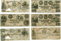 Miscellaneous:Ephemera, Six Mirabeau B. Lamar Engraved Republic of Texas Notes Signed(Three $10 and Three $20) as president of the Republic of Texa...(Total: 6 Items)