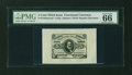 Fractional Currency:Third Issue, Fr. 1236/8SP 5¢ Third Issue Wide Margin Set of Three PMG Superb Gem Unc 67, Gem Uncirculated 66, and Gem Uncirculated 66.... (Total: 3 notes)