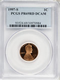 Proof Sets, 1997-S 1C Set of Five Proof Coins PR 69 Deep Cameo PCGS. The Set Includes: 1997-S Lincoln Cent PR69 RD Deep Cameo, 1997... (Total: 5 coins)