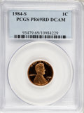 Proof Sets, 1984-S 1C Set of Five Proof Coins PR 69 Deep Cameo PCGS. The Set Includes:1984-S Lincoln Cent PR 69 RD Deep Cameo, 1984... (Total: 5 coins)