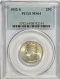 Washington Quarters: , 1932-S 25C MS64 PCGS. PCGS Population (913/95). NGC Census:(497/59). Mintage: 408,000. Numismedia Wsl. Price for NGC/PCGS ...