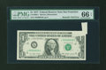 Error Notes:Foldovers, Fr. 1909-L $1 1977 Federal Reserve Note. PMG Gem Uncirculated 66EPQ.. ...