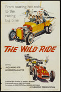 "Movie Posters:Crime, The Wild Ride (Filmgroup, Inc., 1960). One Sheet (27"" X 41"").Crime.. ..."